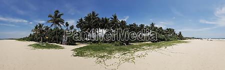 panorama bentota beach in sri lanka