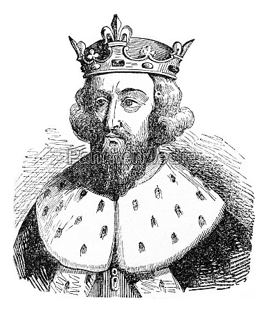 alfred the great vintage engraving