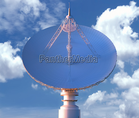 giant satellite dishe fuer signal clipping