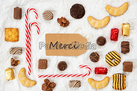 candy christmas collection label merci bedeutet