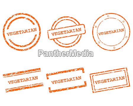 vegetarian stamps
