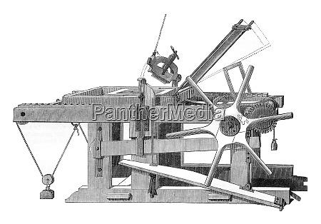 lithographische presse vintage gravur