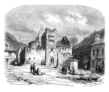 kirche der tempelritter war luz vintage