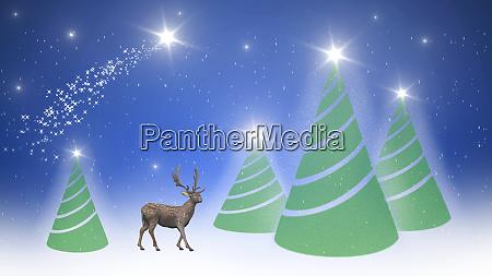 frohe weihnachten mit weihnachtsmann und reder