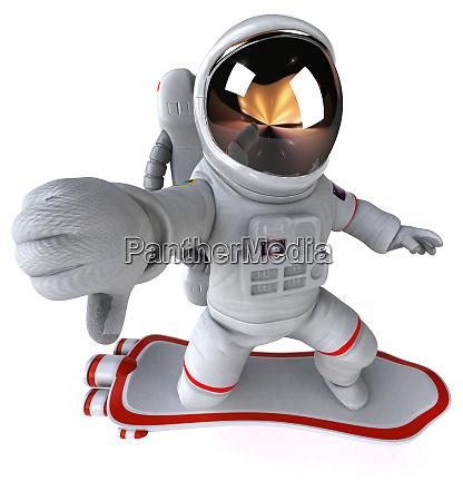 spaß, astronaut, -, 3d-illustration - 27482760