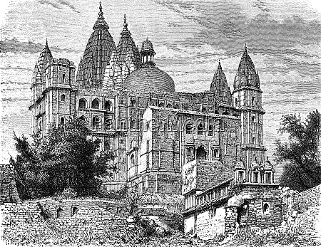 the great temple of chaturbhuj orchha