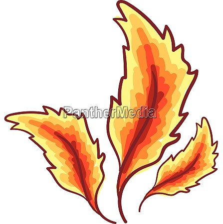 feathers, in, red, and, yellow, shades - 27484985