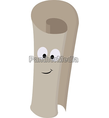smiling light grey paper roll