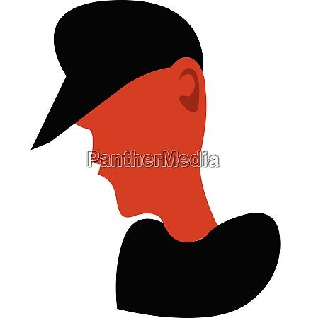 boy wearing black hat vector or