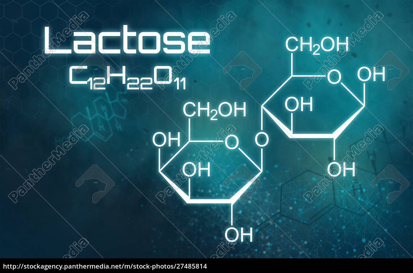 chemical, formula, of, lactose, on, a - 27485814