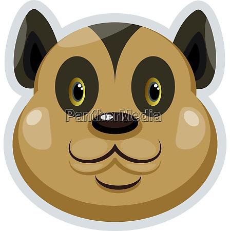 happy brown bobcat illustration vector on