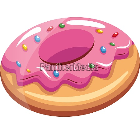 suesse rosa donut illustration vektor auf