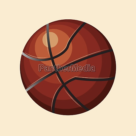 brown ball vector color illustration