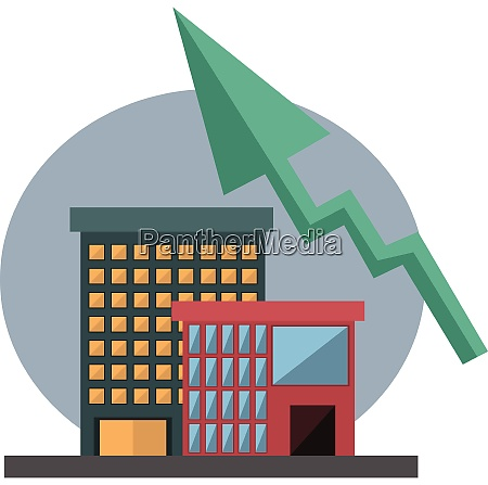 house icon with arrow chart for