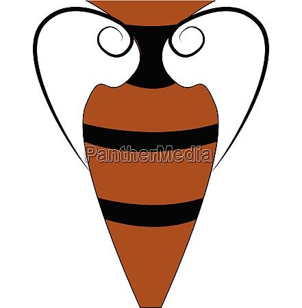 brown and black vintage style vase