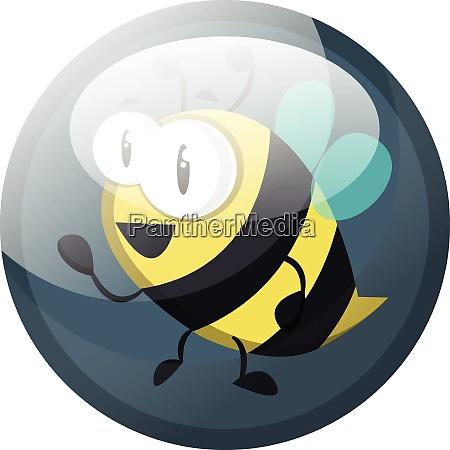cartoon character of a bee vector
