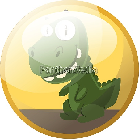 cartoon character of a green dinosaur