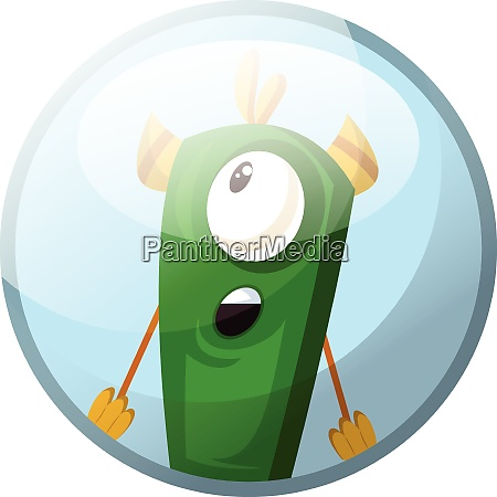 cartoon character of a green monster