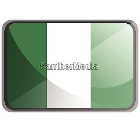 vektor illustration der nigeria flagge auf