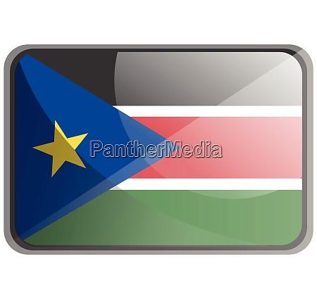 vektor illustration der suedsudan flagge auf