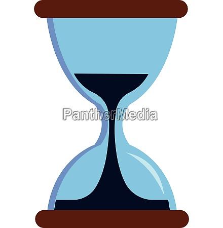 simple vector illustration of a sandglass
