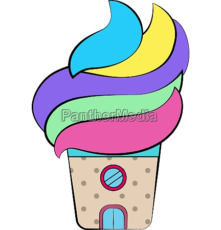 colorful ice cream shop vector or