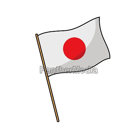japan, flagge, nation, illustration, windkultur - 27488432