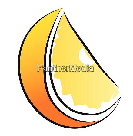 orange color lemon fruit vector or