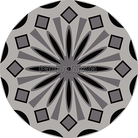 a grey and black color mandala
