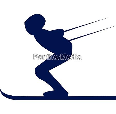 ein skifahrer in ski kostuem vektor