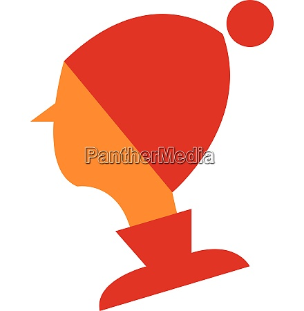 young boy in winter clothes vector