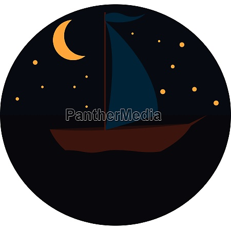 sailing boat in the night