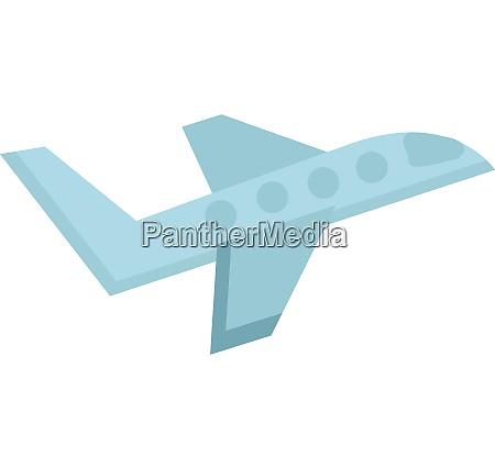 einfache zeichnung von blauen flugzeug illustration