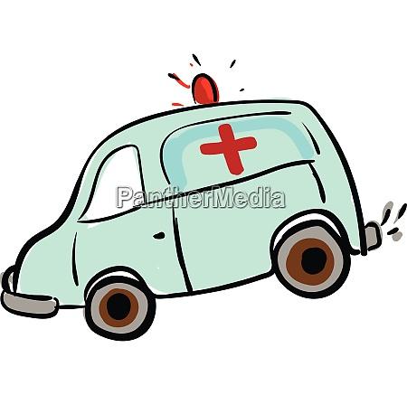 krankenwagen skizze illustration farbe vektor auf