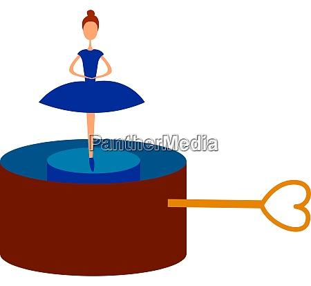 red music box illustration vector on