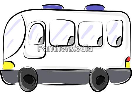 weisser bus illustration vektor auf weissem