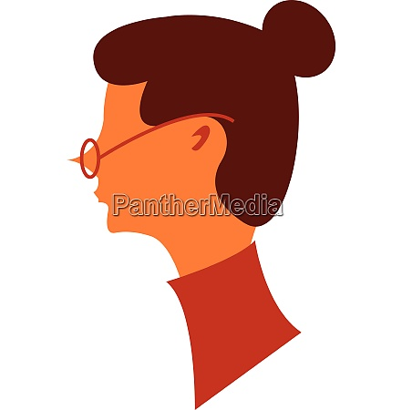 woman with eye glasses vector or