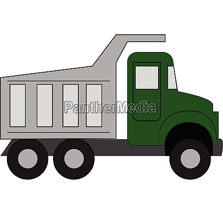 simple vector illustration of a green