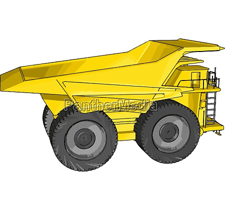 vector illustration of an yellow dumper