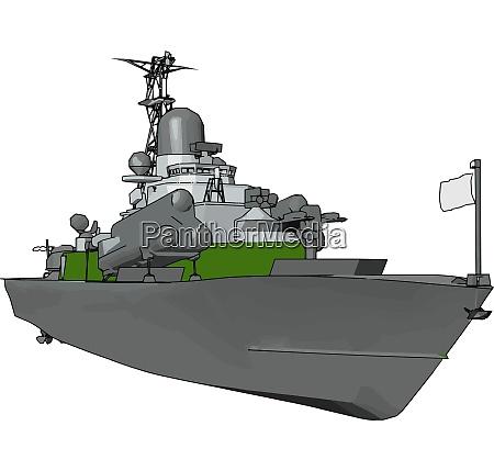 3d vector illustration on white background