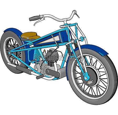 3d vector illustration of a blue