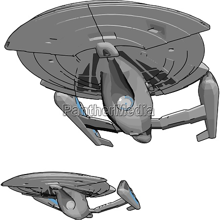 fantasy imperial raumschiff vektor illustration auf