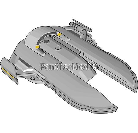spacecruiser fantasy vector illustration on white