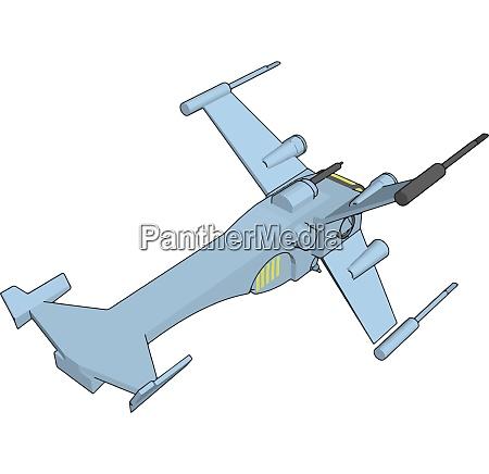 light blue fantasy battleship vector illustration