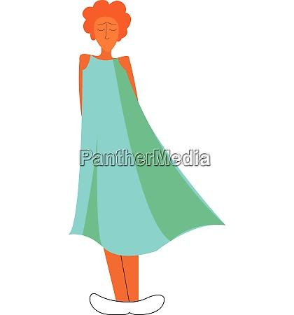 ein maedchen traegt ein schoenes blaues