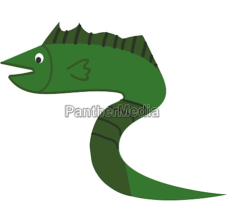 a, green, fish, in, the, shape - 27494552