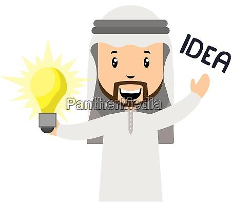 arab is haing idea illustration vector