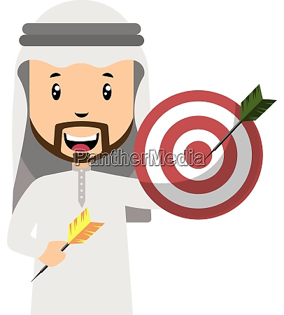 arab with target illustration vector on
