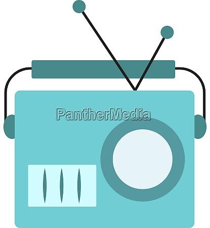 blue old radio illustration vector on