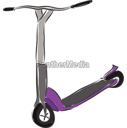 grey and purple scooter vector illustration